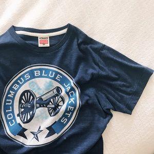 blue jackets t shirt